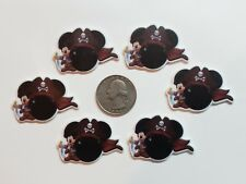 6 Pcs Lot Mickey Mouse Flatback Resin Cabochon Hair Bow Center Supply.