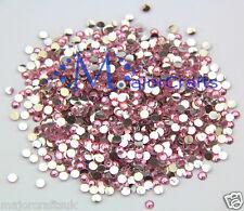 1000pcs Baby Pink 5mm ss20 Flat Back Resin Rhinestones Diamante Craft Gems C14