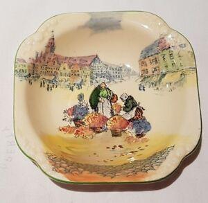 Vintage Royal Doulton Series Ware Flower Market Small Bowl D4785 c1932-59 13cm