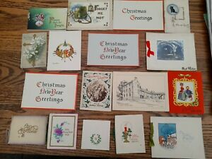 A Collection Vintage & Antique Christmas & new year Cards inc.Photochrom Co.£9.9
