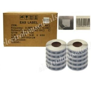 20000 pcs High Performance RF 8.2MHz Security Tag Soft Labels sticker 40x40mm