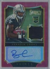 2014 PANINI SELECT RED PRIZM BRANDIN COOKS RC AUTO PATCH 01/30!!