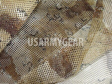 US USMC Army Desert Coyote Camo Netting 5 x 8 Ghillie Mesh Veil Cover Deer Blind