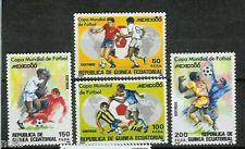 Equatorial GUINEA ECUATORIAL Edifil # 81/84 ** MNH Futbol Mundial Mexico 86