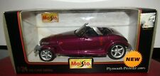 Maisto Plymouth Prowler 1997 1/24 Scale Diecast Silver Replica Model Car
