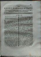 1795 'NUOVO GIORNALE D'ITALIA': AMORE PER L'AGRICOLTURA, FIORE DI IPPOCASTANO...