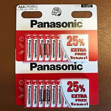 20 x AAA Genuine Panasonic zinco carbonio Batterie-Nuovo LR03 1.5 V MN2400 05/2020