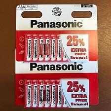 20 x AAA Genuine PANASONIC Zinc Carbon Batteries - New LR03 1.5V MN2400 11/2019