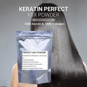 100% Keratin and 100% Collagen Mix Powder Natural Hair Care Vitamins Treatment