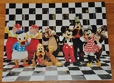 RARE Walt Disney World 70s 80s Poster Tweedle Dee Dum Chip Dale Mickey Minnie