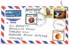 Vv302 1981 New Zealand Papatoetoe Devon Gb England Cover {samwells-covers}