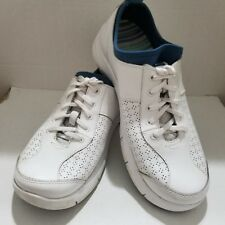 Dansko Womens Elise White Leather Lace Up Sneakers Shoes Size 9.5/10 40EU
