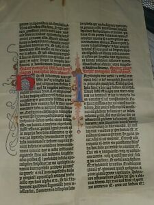 PAGE FROM THE 42-LINE BIBLE OF GUTENBERG · MAY 1452-55 Beginning of John's Gospe