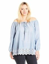 NYDJ Womens Collection Plus SZ Josephine Off Shoulder Top, Matisse