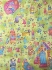 100 Cotton Quilting Craft Fabric Benartex Grandma's House 1550 Gran Nan Blue