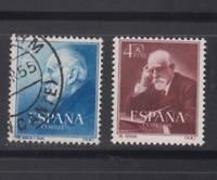 SPAIN (1952) - USED COMPLETE SET SC SCOTT 793/94 DOCTOR FERRAN Y CAJAL