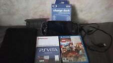 PS Vita 8 game card holder pouch 4Gb mem card 2 games usb cord and charging dock