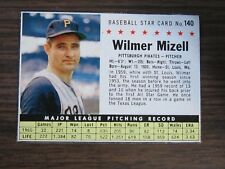 1961 Post Cereal # 140 Wilmer Mizell Card ( B67 ) Pittsburgh Pirates