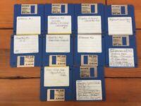 Vintage 1990s Graphic Sound Converters Software Macintosh 3.5 Floppy Disks Mac