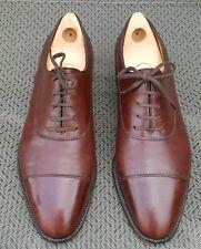 John Lobb Brown Stafford Prestige Collection Cap Toe Oxford 7E UK Euc 7000 US 8*