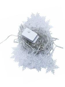 11.5ft EU/US/UK Snowflakes Fairy Icicle String 96 LED Warm/White Curtain Lights