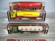 K544-0,3# 3x Herpa HO 801203 Volvo F12 Shell, 818203 Texaco, MB 806206, NEUW+OVP