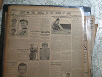 Baseball Ty Cobb Newspaper GREATEST OF EM ALL BETTER THAN RUTH + BILLIARDS POOL