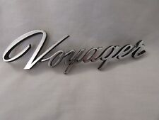 """1990's Plymouth """"Voyager"""" Scripted Lift Gate Nameplate / Emblem"""