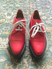 3.1 Phillip Lim Red Leather Platform Creeper Shoes US 10 EU 43 RARE