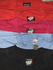 Vintage Bundle 5 Screen Stars Best Tshirt Plain Solid Blank Size L Made In USA