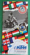 KTM MOTO 1996 SERVICE EUROPA OFFICINE AUTORIZZATE  POSTER CATALOGO BROCHURE