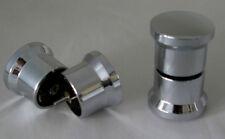 2 Paar Griffe Chromoptik Griff Glas Tür Eckdusche Duschtür Dusche Türknauf