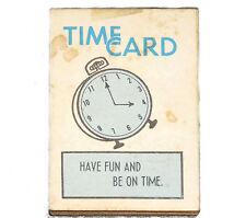 Cracker Jack prize Time Card paper book vintage 1950s