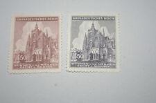 """Deutsches Reich """"Böhmen und Mähren"""" Mi 140-141 postfrisch *St.-Veits-Dom*"""