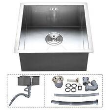 "30"" Handmade Topmount Drop In Single Bowl Basin Stainless Steel Kitchen Sink"