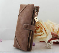 Girls Women Leather Wallet Button Clutch Purse Ladies Long Handbag Bag Fashion
