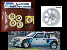 Roues résine avec jantes Speedline Peugeot Talbot Sport 205 turbo 16 1/43e