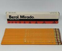 10 Vintage Berol Mirado 174 HB Soft Medium Lead Writing Pencil Box Unsharpened B