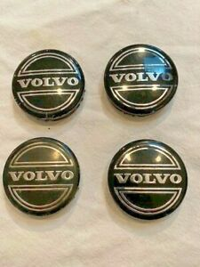 4 OEM Volvo Black Center Caps for S60 V70/XC70 S80 XC90 C70 S40 V50 C30 30666913