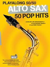 Playalong Alto Sax 50 Pop Hits BLONDIE ABBA Saxophone Music Book Download Card