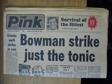 16/11/1985 Coventry Evening Telegraph Newspaper: Luton Town v Coventry City & Nu
