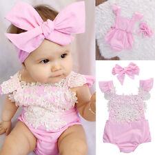 Recién Nacido Bebé lindo Niña Floral Body mono trajes Verano Ropa