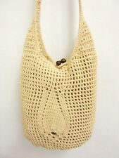 NB 05 HANDICRAFT CROCHET KNIT HOBO WEAVE HANDMADE CROSSBODY SLING SHOULDER BAG M