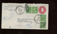 US Western Upgraded Stationery Cover 1936 from Seed Company in Medford, Oregon