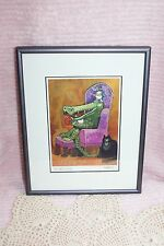 "Nedobeck Graphics Print 5 X 7 Inches ""An apple a day"" Metal Purple Frame"