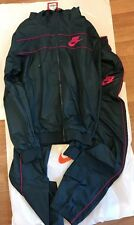bnwt men's Nike Grey/fuchsia mesh lined tracksuit jacket + relaxed bottom S