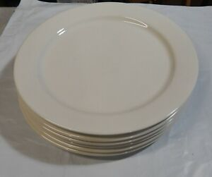 """6  1966 Coors Pottery California 12"""" Restaurant Ware Plates White  NICE"""