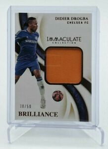 2020 Panini Immaculate Soccer ☆ Didier Drogba ☆ Brilliance Patch ☆ Chelsea #/50