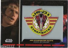STAR WARS GALACTIC FILES PR-13 EMBROIDERED PATCH JEDI STARFIGHTER PILOT ANAKIN