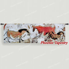 """Lascaux Cave Paintings Fine Art Tapestry Wall Hanging, Cotton 100%, 55""""x17"""", UK"""